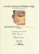 Advanced Facial Reflexology Aug 2018