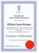 AoR Certificate 2002