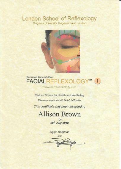 Facial Reflexology Jul 18