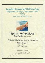 Spinal Reflexology - May 2016